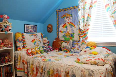 Nostalgic 80s Rainbow Rooms