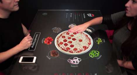 Pizza-Making Touch Tables