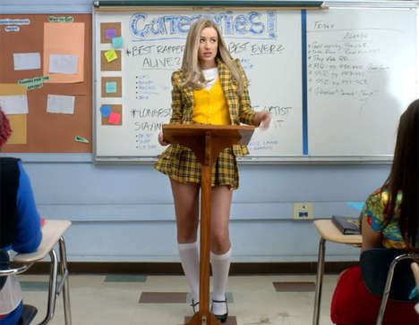 Cult Movie Rap Tributes - The Iggy Azalea 'Fancy' Video is a Throwback to the 90s & 'Clueless'