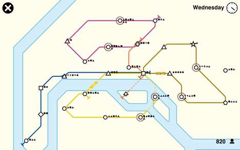 Subway Development Games - The Mini Metro Game by Dino Polo Club Simulates Keeping a City Running