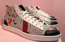 Artful Charity Sneakers - Sawa Shoes and Shine Shine Team Up to Create these African High-Top Shoes