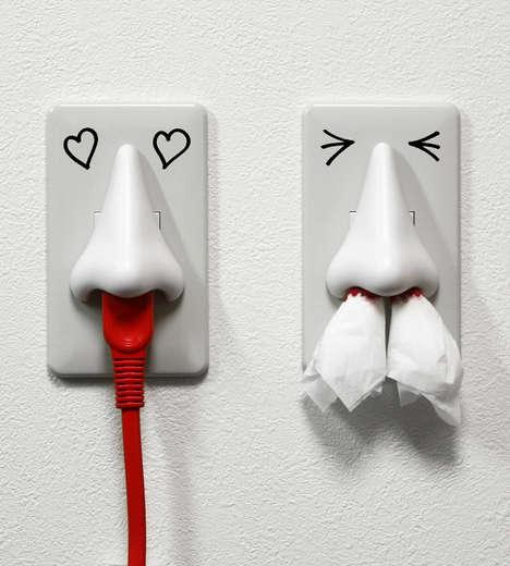 Schnoz-Shaped Plug Outlets