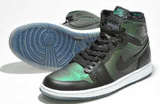 Serpent-Inspired Skate Shoes - The Graffiti Irridescent Nike Sb Air 1 Jordan Caters to Skaters