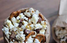 Opulent Popcorn Snacks - Ordinary Popcorn Gets an Overhaul with Edible Gold Leaf Sprinkles