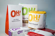 Exclamatory Supermarket Packaging - The Oh! Store Brand Series Catches Consumers' Attention