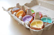 Artsy Eggshell Easter Candles - The Easter Candles By LessCandles are Made in Real Egg Shells