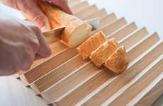 Crenulated Cutting Boards - The Pragma Breadboard Has a Corrugated Surface for Catching Crumbs