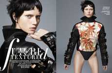 Futuristically Textured Fashion - The Harper's Bazaar China Spring 2014 Photoshoot Stars Cato Van Ee
