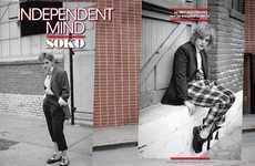 Androgynous Grey-Haired Fashion - The L'Uomo Vogue 'Independent Mind' Photoshoot Stars Singer