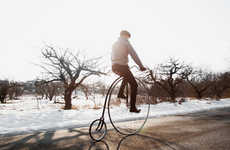Humongous Heightened Vintage Bikes - These High Wheel Bicycles Bring an Old Concept to Modern Age