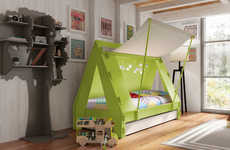 Camping-Themed Kid Decor - These Children's Beds are Shaped Like Tents and Camper Trailers