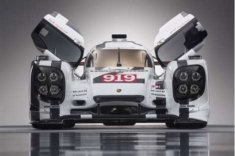 Porsche Has Unveiled The 919 Hybrid To Compete In The 2014 Le Mans Race
