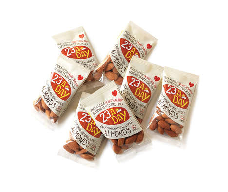 Suggested Intake Food Packaging - '23 a Day' Almonds Provides a Perfect Amount for Daily Snacks
