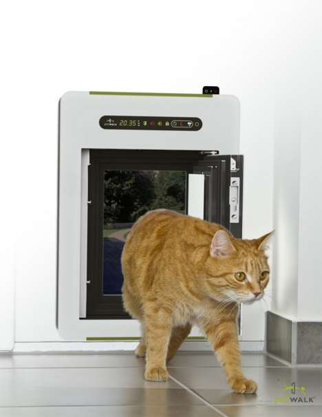 Automated Pet Doors - The Petwalk Pet Door is Both Pet-Friendly and Eco-Friendly