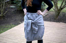Comfy Sweater Skirts - Turn an Ordinary Sweatshirt into an Eclectic Skirt with This Tutorial