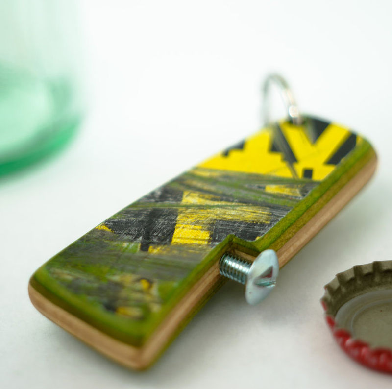 Recycled Skateboard Bottle Openers