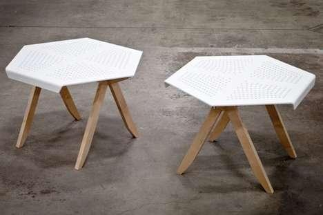 Perforated Geometric Furniture