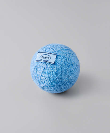 High Fashion Yarn Balls - Lernert & Sander Reduce Prada Garments to Their Original State