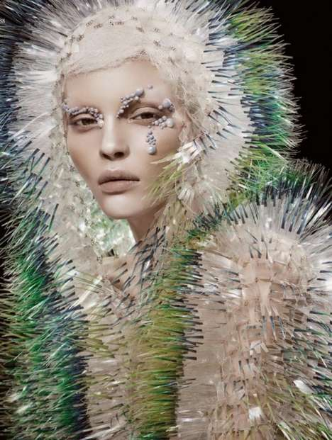 Pale Avant-Garde Editorials - The Natural Vision Editorial for Vogue China is Eccentric and Artsy
