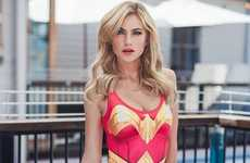 Heroically Caped Swimwear