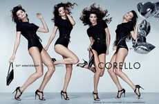 Motion-Filled Fashion Ads - The Corello Fall/Winter Campaign Stars Multiples of Isabeli Fontana