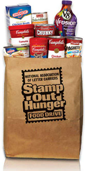Collaborative Food Drives - The Stamp Out Hunger Drive Helps to End Hunger Across America