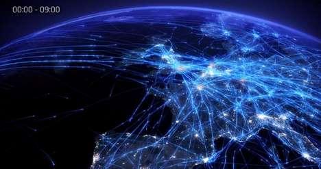 Illuminated Air Traffic Art