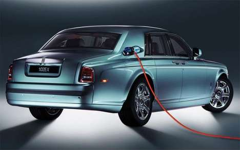 Luxury Hybrid Sedans - A Rolls-Royce Design for an All-Electric Car is in the Works