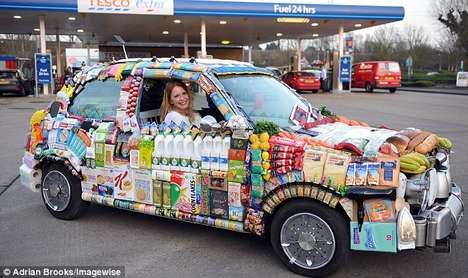 Grocery-Covered Cars