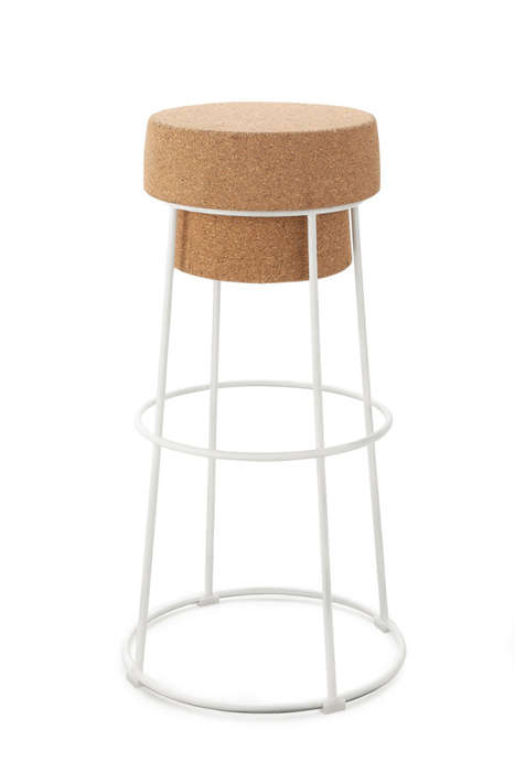 Champagne Cork-Styled Stools