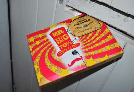 Circus-Themed Candy Packaging - The Packaging for Mr. Big Tops Candy was Created by Company P4Ck
