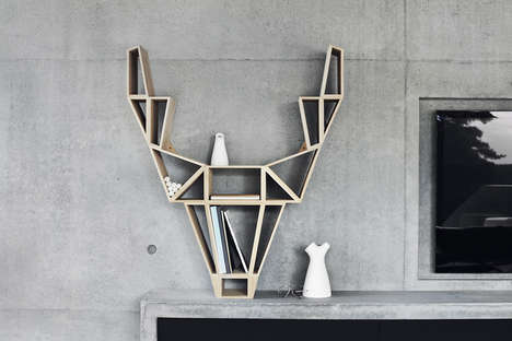 Woodland Critter Bookshelves - This Deer Bookshelf was Created by Design Company beDesign