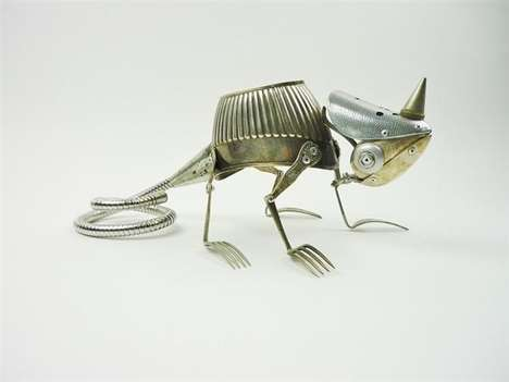 Cute Scrap Metal Sculptures - Artist Dean Patman Creates Animal Sculptures from Recycled Materials