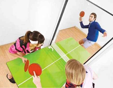 Rotating Ping Pong Doors - This Ping Pong Table Door Makes Furniture Fun