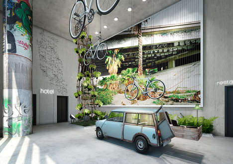 Camper Approved Lodgings - The 25HOURS Hotel Bikini Berlin Features a Hammock-Filled Lobby Design