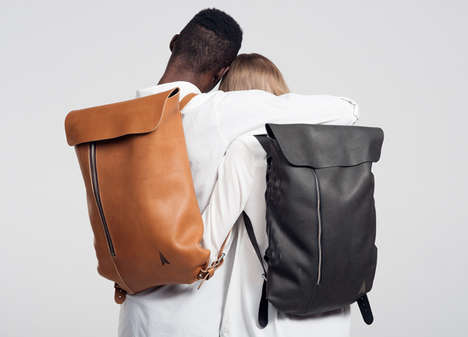 Minimalist Leather Knapsacks - The Simple Backpack by Jakob Lukosch Boast Basic Seams