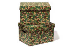 Designer Home Storage Units - A Bathing Ape Announced the Release of its Camo ABC STORAGE BOX