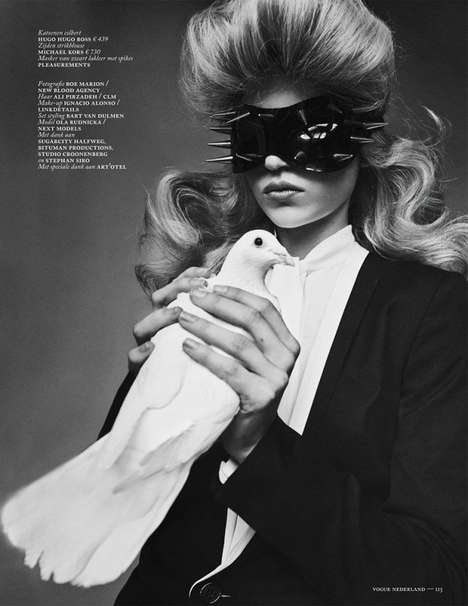 Chic Magician Captures - The 'Magic Star' Editorial for Vogue Netherlands is Elegant