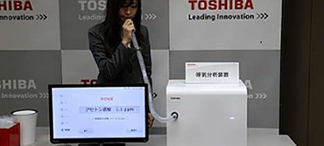 Toshiba Unveiled a New Disease-Detecting Breathalyzer for Patients