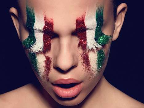 Flag-Inspired Cosmetic Captures - This Danish ELLE Editorial was Shot by Henrik Adamsen