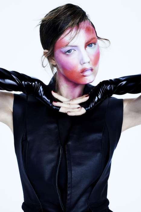 Avant-Garde Cosmetic Captures - This Fat Magazine 2014 Editorial Features Model Lindsey Wixson