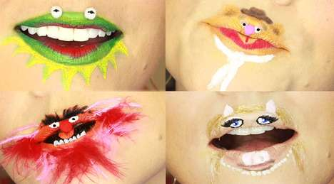 Puppet-Inspired Lip Art