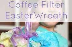 Artsy Mulitcolored Easter Wreaths - This Fun DIY Craft Will Keep the Kids Entertained for Easter
