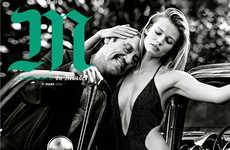 Odd Couple Editorials - The M Le Monde Cover Shoot Stars Edita Vilkeviciute & Danny Trejo