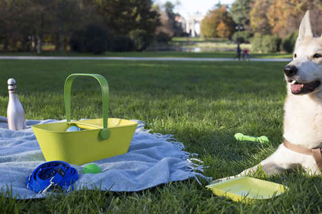 Vibrant Pet Picnic Baskets - The PetNic Basket is Carryall With Added Details for Your Pets