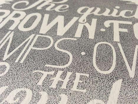 Gradient Stippled Typography