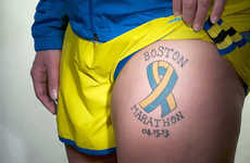 Tragedy-Memorializing Tattoo Photography - Christopher Padgett Takes Snaps of Boston Bombing Tattoos