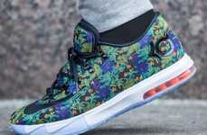 Floral Basketball Kicks