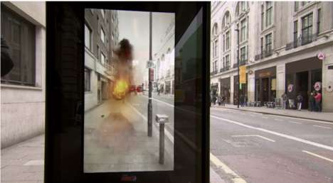 Augmented Reality Bus Ads