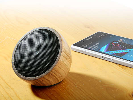 Smooth Wooden Speakers